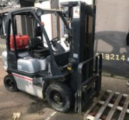 2007 Nissan 25 Counter Balance Forklift Truck - Gas Powered - Rated Capacity 2500kg - Starts,