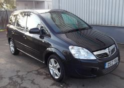 2012 Vauxhall Zafira 1.7 Cdti Exclusive 5 Door MPV - CL505 - NO VAT ON THE HAMMER - Location: Corby,