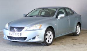 2008 Lexus IS220D 4 Door Saloon- CL505 - NO VAT ON THE HAMMER - Location: Corby, Northamptonsh