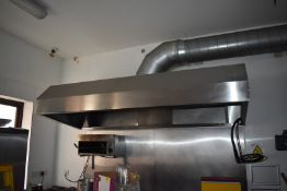 1 x Commercial Kitchen Extractor Canopy - Filters Not Included - Size 240 x 107 cms - CL586 -