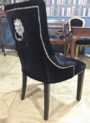 6 x HOUSE OF SPARKLES Luxury Vintage-style Button-Back 'LION' Dining Chairs Richly Upholstered In