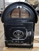 1 x King Edward Large Commercial Potato Baker In Black - Dimensions: D56 x W52 x H80cm - Preowned,