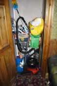 1 x Contents of Storage Room Including Numatic Henry Hoover, Fan, Duster, Mop Heads, Brush,
