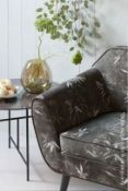 1 x VIDA Modern Round Coffee Table Featuring A Black Marbled Porcelain Tabletop - Produced By WOOOD