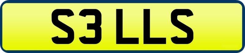 1 x Private Vehicle Registration Car Plate - S3 LLS -CL590 - Location: Altrincham WA14