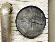 1 x Cloudnola 'Structure' Industrial Style Wall Clock With A Faux Cement Face - Diameter 40cm /
