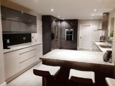 1 x Fitted Kitchen With A Sleek Handleless Design, Integrated Bosch Appliances + Granite Worktops