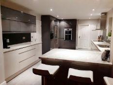 1 x Fitted Kitchen With A Sleek Handleless Design, Integrated Bosch Appliances + Granite Worktops