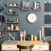 1 xMr Clarke Scandanavian-styleLight Plywood Wall Clock - Dimensions:28cm in diameter and 4.