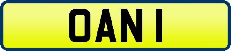1 x Private Vehicle Registration Car Plate - OAN 1 -CL590 - Location: Altrincham WA14