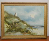 1 x Original Oil Painting On Canvas - Dimensions: 75 x 55cm Including Frame - Ref: MD169 / WH1 D-OFF