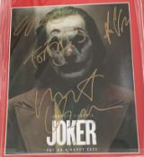 1 x Signed Autograph Picture - THE JOKER - Multi Cast Signed Picture - With COA - Size 12 x 8 Inch -