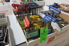 Lot of Metric and Standard T-Handle Hex Key Wrenches