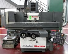"OKAMOTO ACC-20-24DX HYDRAULIC SURFACE GRINDER, s/n 67104, w/ 20""x24"" Electro-Magnetic Chuck"