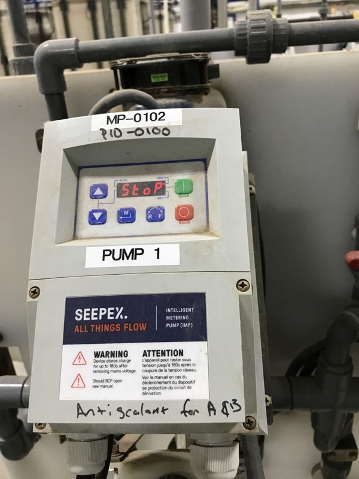 Lot 1225 - Seepex ALPHA Systems Metering Pump System