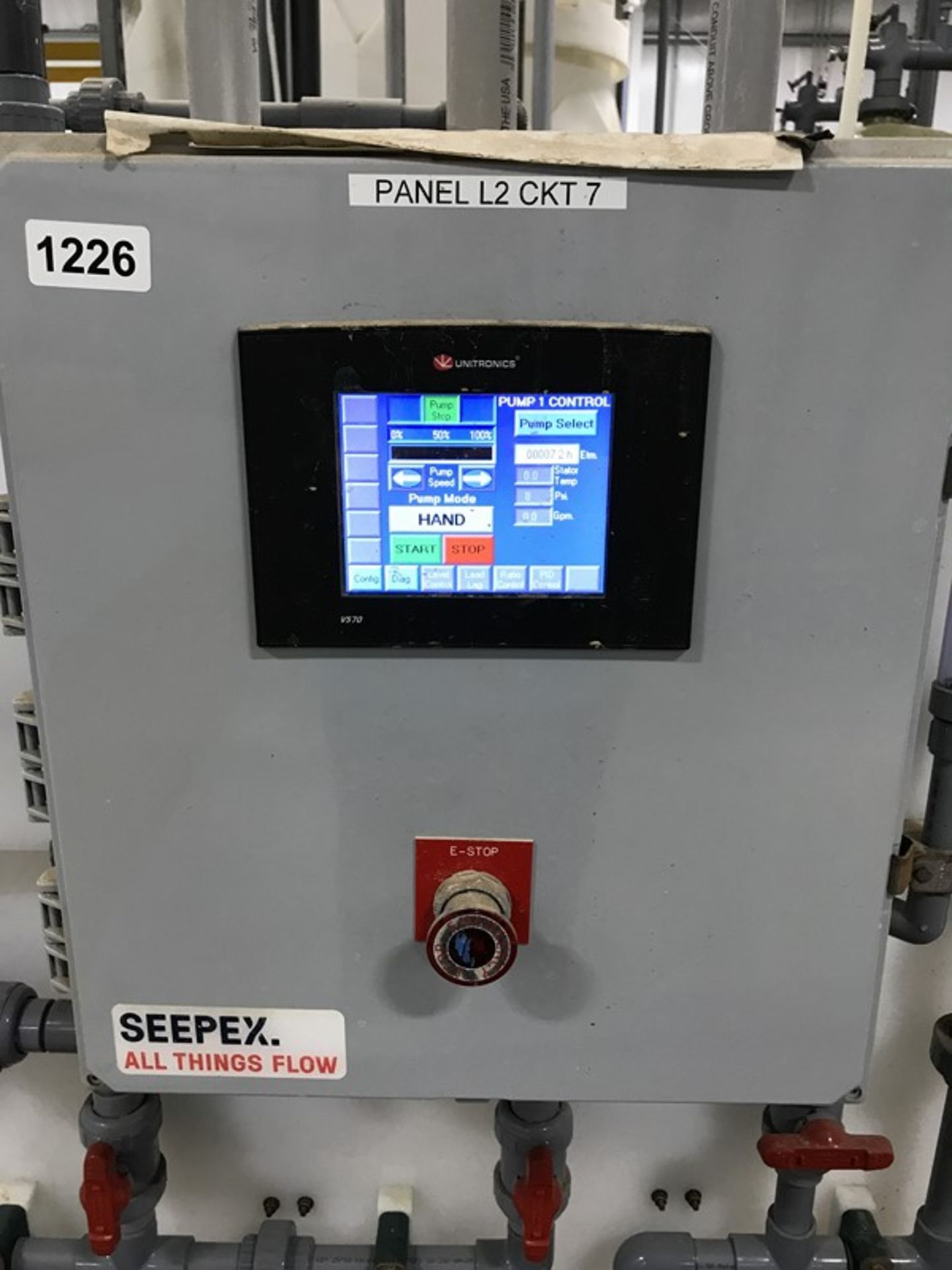 Lot 1226 - Seepex ALPHA Systems Metering Pump System