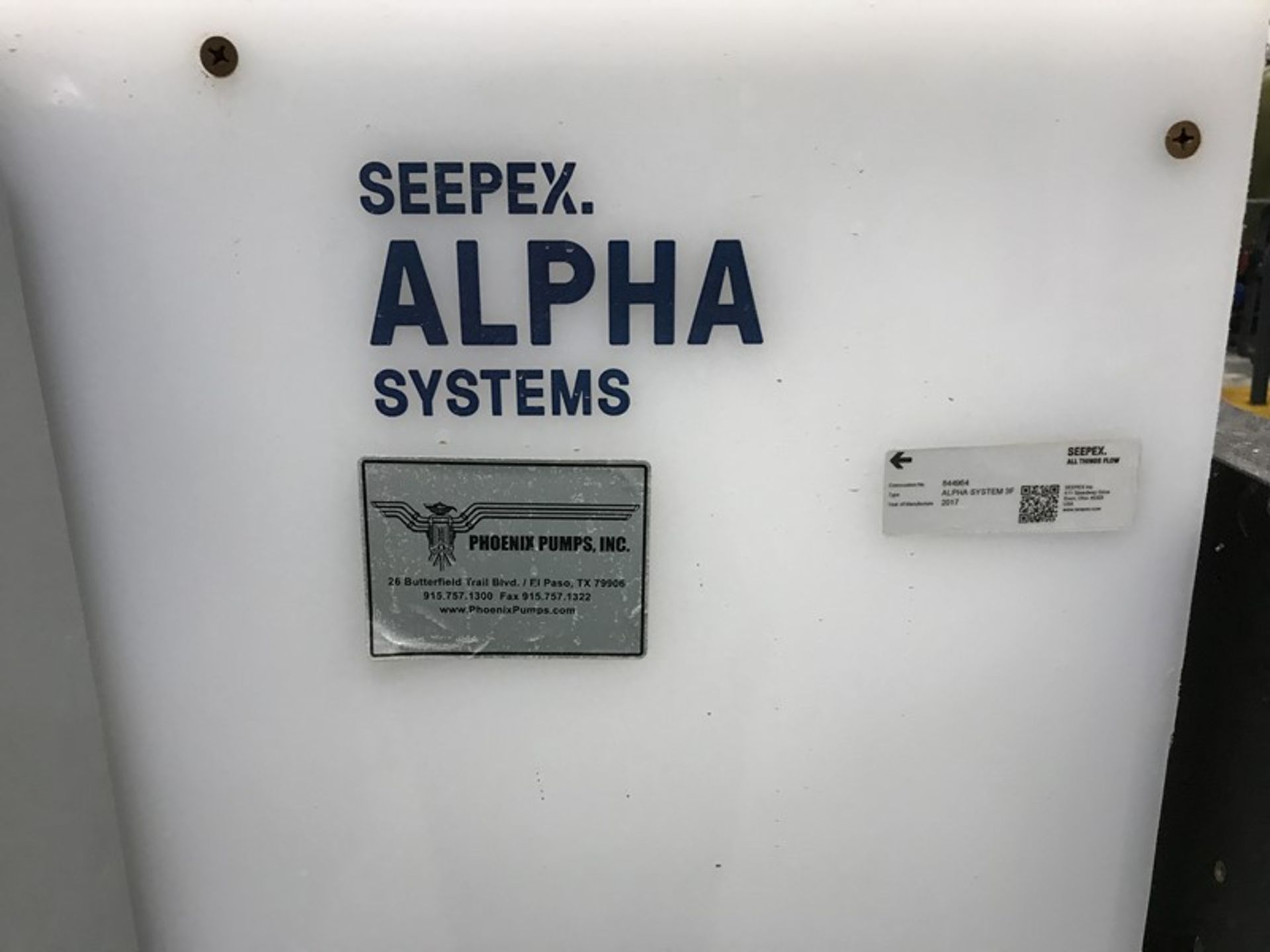 Lot 1229 - Seepex ALPHA Systems Metering Pump System