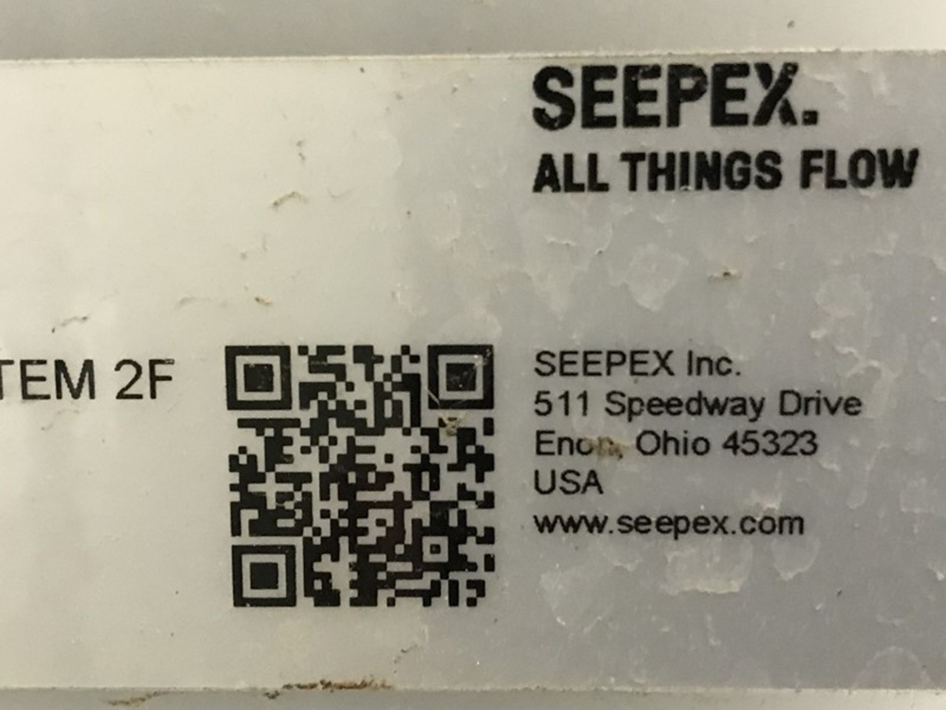 Lot 1215 - Seepex ALPHA Systems Metering Pump System
