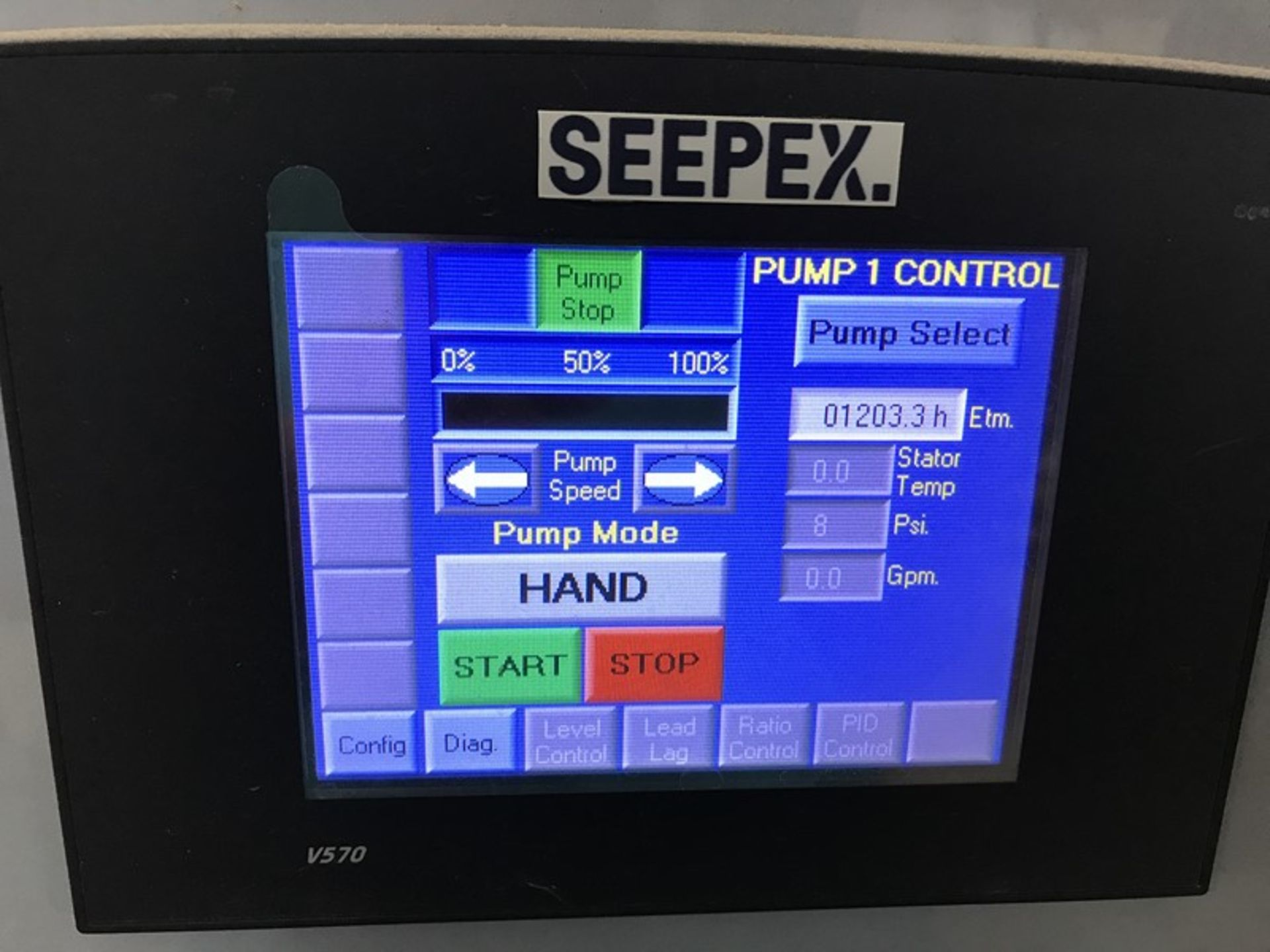 Lot 1197 - Seepex ALPHA Systems Metering Pump System