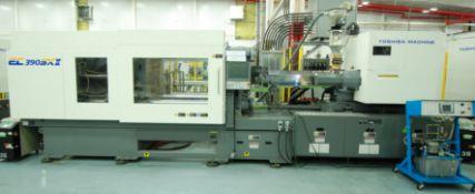 390 TON 27.5 OZ TOSHIBA ALL ELECTRIC MODEL EC390SX11V50-17 HORIZONTAL INJECTION MOLDING MACHINE