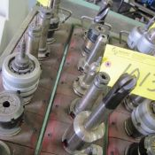 LOT OF 7 CAT 40 TOOL HOLDERS WITH ATTACHMENTS