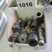 LOT OF 9 CAT 40 TOOL HOLDERS WITH ATTACHMENTS