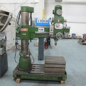 """2002 TONE FAN RD-900, 3' RADIAL ARM DRILL, S/N: 3827 WITH BOX TABLE, 88 TO 1500 RPM, 2 1/12"""""""