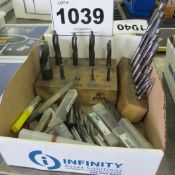 1 BOX OF END MILLS