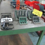 """LOT OF 4 ANGLE PLATES WITH 6"""" VISE"""