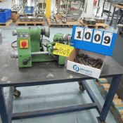 2002 MICHAELLIN U2 DRILL SHARPENER S/N: 1011499 WITH PORTABLE STEEL TABLE AND COLLET SET