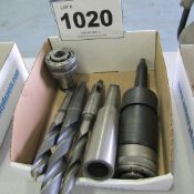 LOT OF DRILLS, TOOL/COLLET HOLDERS
