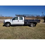 2003 F550 Ford Super Duty Pickup, Automatic, 7.3 Power Stroke Diesel, 8' Foot Omaha Flatbed