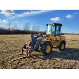 Volvo Model L35B Wheel Loader w/ Quick Detach 79 in Bucket and Fork Attachment, Auxillary Hydraulics