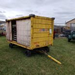 Enclosed 4 Wheel Baggage Type Trailer, 60 in Wide, 9 ft 6 in Long, 58 in High, Hard Tires