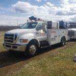 2007 Ford F750 Mechanic's Crane Truck, Cat C7 ACERT Diesel, Auto, 13 ft. IMF Dominator Body