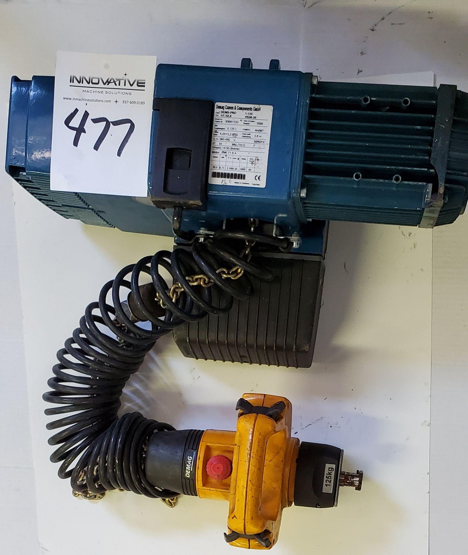 Lot 477 - Demag Pro Manulift with DSM-CS Control 125 kg, 3 phase, 380/480 v