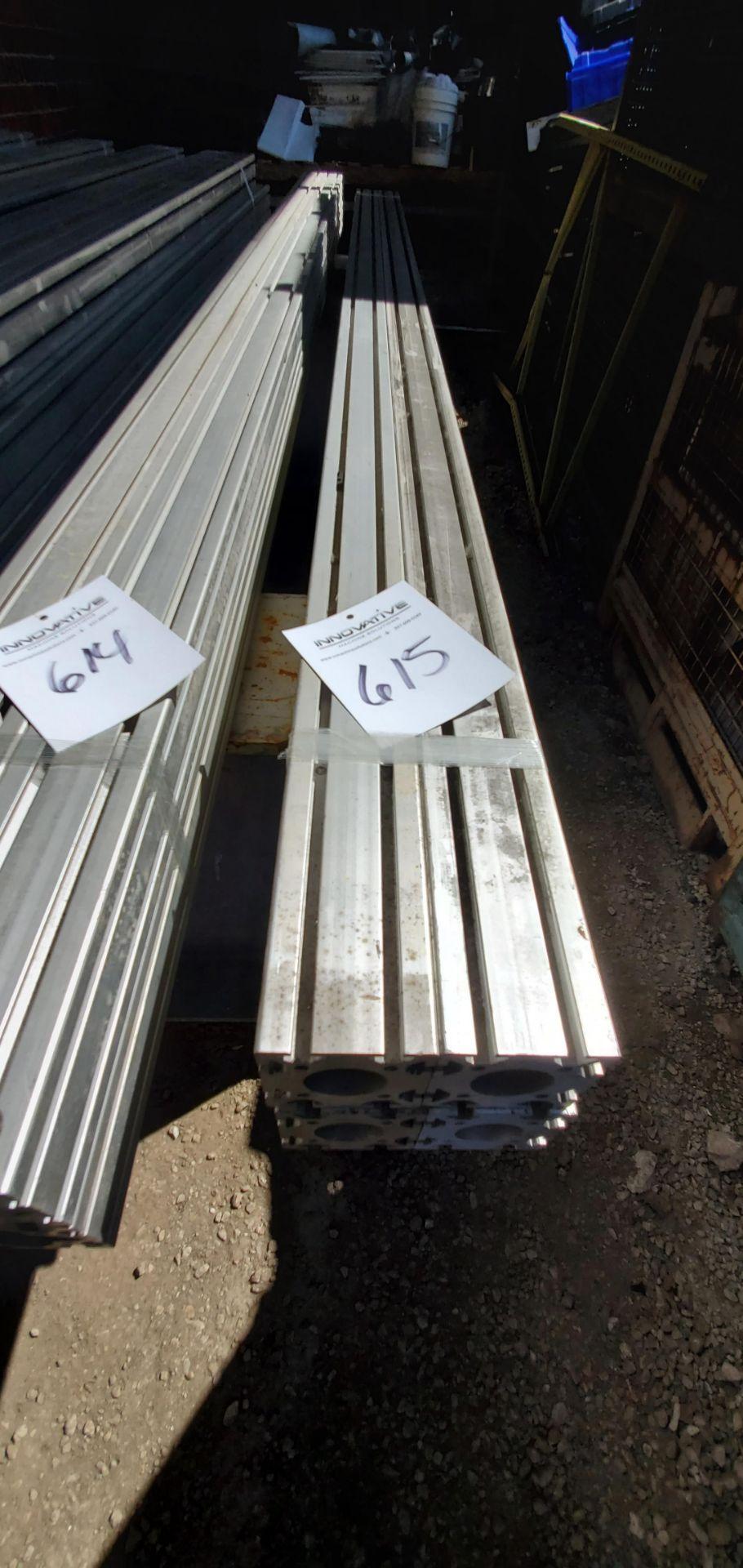 """Lot 615 - Extruded Aluminum: (4) 10' 6"""""""