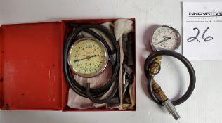 Snap-on Fuel Pump Pressure Gage & Lisle Compression Tester
