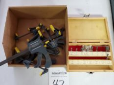 Assorted Quick Clamps and Router Bits