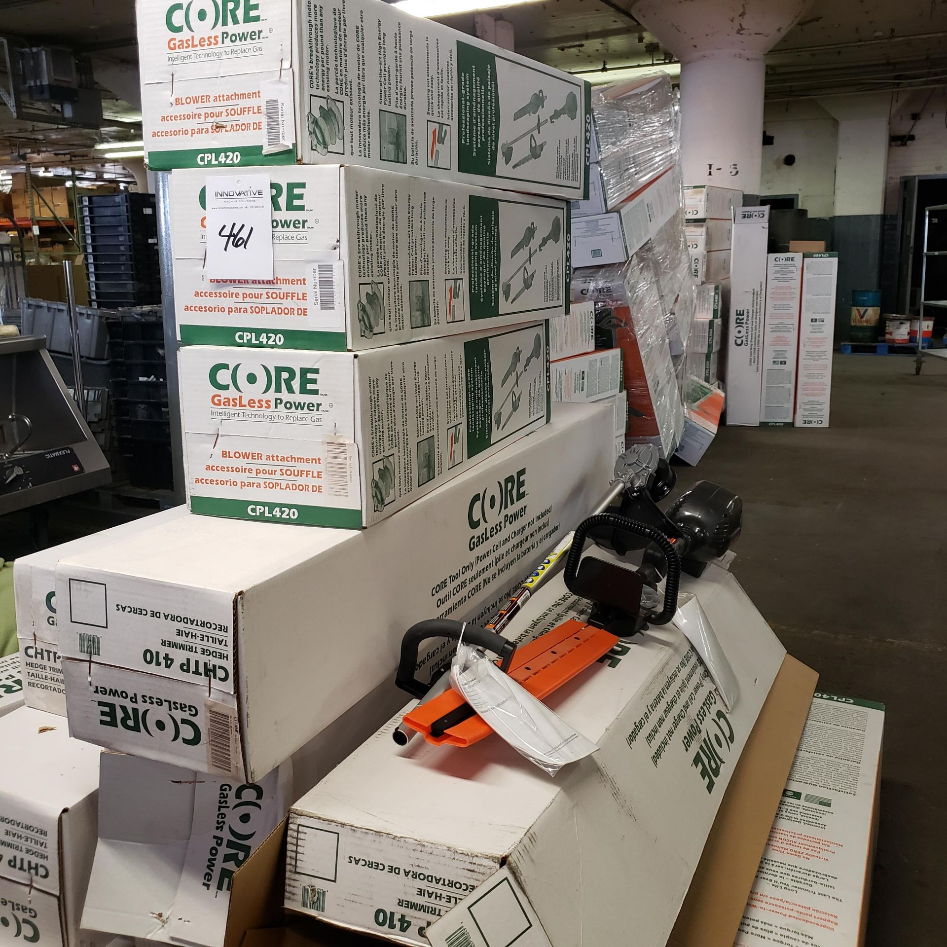 Assorted Core Gasless Power Blowers, Hedge Trimmers, and Line Trimmers