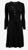 BRAND NEW - NEXT - Black Button Front Jumper Dress SIZE 14 RRP £30
