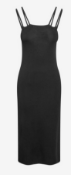 BRAND NEW - NEXT - Black Square Neck Strappy Dress SIZE 14 RRP £35