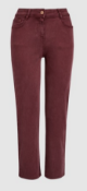 BRAND NEW - NEXT - Berry Soft Touch Cropped Jeans SIZE 14 RRP £26