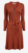 BRAND NEW - NEXT - Red Button Front Jumper Dress SIZE 20 RRP £30