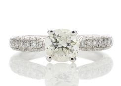 18ct White Gold Single Stone Diamond Ring Valued by GIE £27,950.00