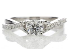 18ct White Gold Single Stone diamond Ring Valued by AGI £3,768.00
