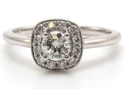 18ct White Gold Single Stone Diamond Ring - Valued by GIE £12,545.00