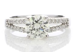 18ct White Gold Solitaire Diamond Ring Valued by AGI £20,405.00