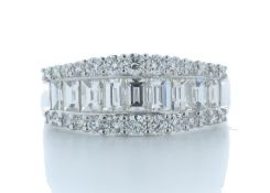 18ct White Gold Channel Set Semi Eternity Diamond Ring Valued by AGI £5,260.00