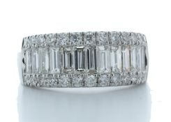 18ct White Gold Channel Set Semi Eternity Diamond Ring Valued by AGI £6,335.00